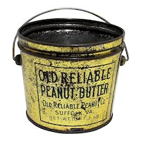 Old Reliable Peanut Butter Advertising Tin