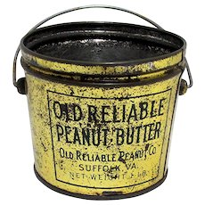Advertising Tin Old Reliable Peanut Butter Tin