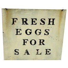Metal Farm Advertising Sign for Fresh Eggs For Sale