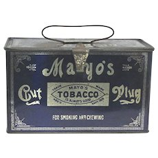 Mayos Cut Plug Lunch Box Tobacco Advertising Tin