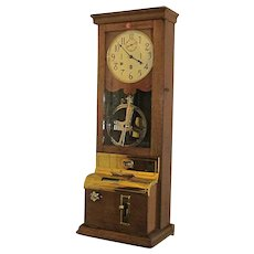 International Time Recorder Wall Clock for Export to France