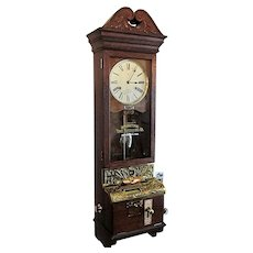 Wall Clock Antique International Time Recorder