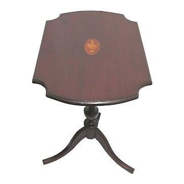 Antique Inlaid Tilt Top Side Table