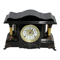 Antique Seth Thomas 4 Column Mantle Clock Mint Restored Condition