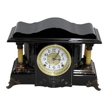 Antique Seth Thomas 4 Column Mantle Clock Mint Restored Condition
