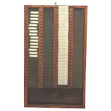 Antique Clock Time Card Rack 100 Card Slot with 39 Unused Cards