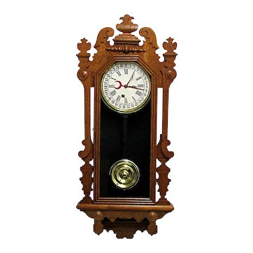 Antique Calendar Wall Clock F. Kroeber Arctic Model