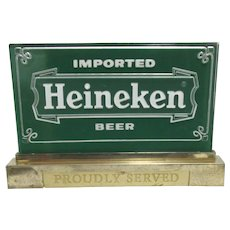 Heineken Beer Lighted Bar Promotional Sign