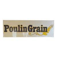 Poulin Grain Metal Advertising Sign