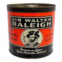 Humidor Sir Walter Raleigh Advertising Tin