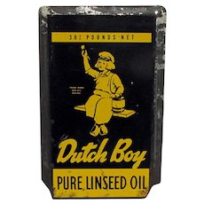 Dutch Boy Linseed Oil Tin Advertise Sign