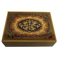 Jewelry Box  Inlaid Top Swiss Music Box