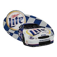 Metal Advertising Sign for Miller Lite Beer And Ford Taurus Auto Racing  ON SALE