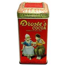 Droste's Cocoa Advertising Tin
