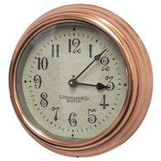 """E. Howard Brass Wall Clock 11"""" Diameter   ON SALE"""