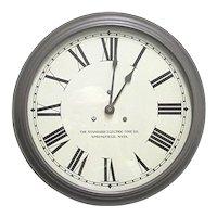 "Standard Electric Slave Clock 15"" diameter  Runs and Keeps Time"