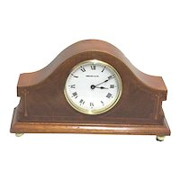 French Inlaid Mantel Clock Retailed by Tiffany  ON SALE