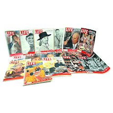 Life Magazines  21 Issues Circa 1950 – 1958   SALE ENDS 4/25