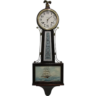 Antique New Haven Banjo Wall Clock Completely Restored