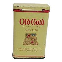 Old Gold Cigarettes Pocket Advertising Tin