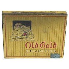 Old Gold Flat(50) Pocket Advertising Tin
