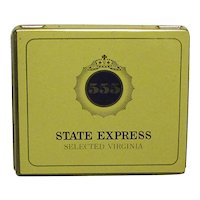 Advertising Tin Mint Unopened State Express Cigarettes