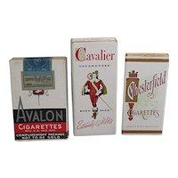Advertising 3 Mint Unopened Sample Cigarette Packs