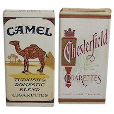 Advertising Two Unopened Sample Cigarette Packs