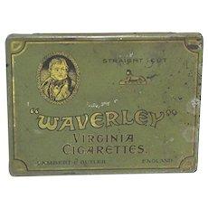 Waverley Flat Cigarette Advertising Tin