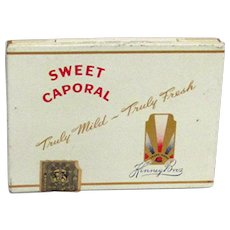 Sweet Caporal Flat Cigarette Advertising Tin