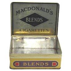 Advertising Tin MacDonalds Cigarette