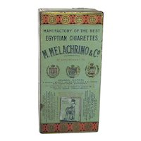 Advertising Tin Melachrino Egyptian Cigarettes