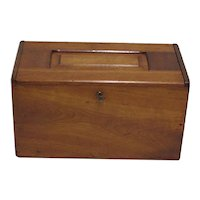 Locking Storage Box Solid Walnut