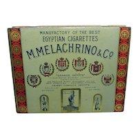 M. Melachrino & Co. Flat Fifty Cigarette Advertising Tin