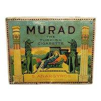 Murad Cigarette Advertising Tin