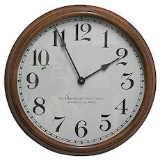 "Antique Walnut Wall Clock 16 ½"" diameter"