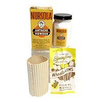 Nursola Antacid Powder Original Box, Contents and Brochure