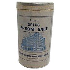 Advertising Tin Optus Epsom Salt