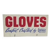 Advertising Sign GLOVES by Conover