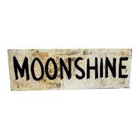 Moonshine Metal Advertising  Sign