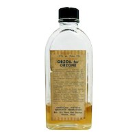 Dr. Inches Orzoil Orzone Glass Bottle Pharmacy Or Drugstore