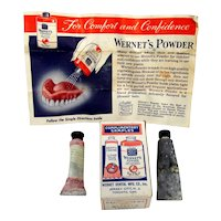 Advertising Wernet's Dental Complimentary Samples Crème and Powder Medical Pharmacy