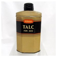 McKesson's Talc for Men Advertising Tin Drug Store Pharmacy Item
