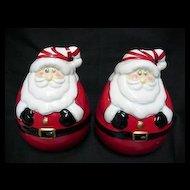Christmas Roly Poly Santas Salt and Pepper Set