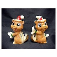 Chipmunk Salt and Pepper Christmas Set