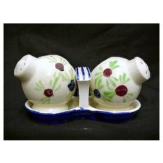 Salt and Pepper Set Three Piece New York Worlds Fair