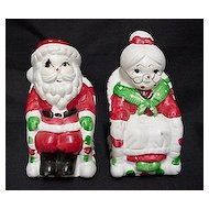 Christmas Salt and Pepper Santa and Mrs. Claus in Rockers