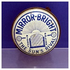 Automotive  Mirror Bright Car Polish Advertising Tin