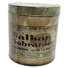 Advertising Tobacco Tin Balkan Sobranie Smoking Mixture