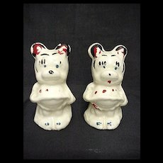 Salt and Pepper Shaker Set Minnie Mouse